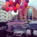 DUC-21  Uçan Balon Pankart Evlilik Teklifi