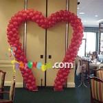 BS-1 Ayaklı Kalp Balon Süsleme